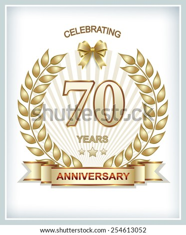 Anniversary card 70 years
