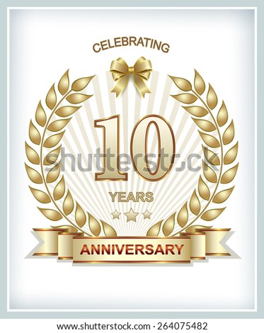 Anniversary card 10 years
