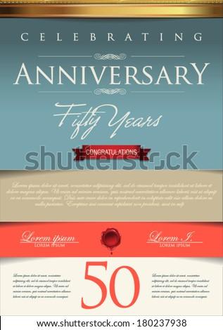 anniversary certificate template stock vector 180237938 shutterstock