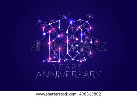 Years anniversary design abstract form stock vector