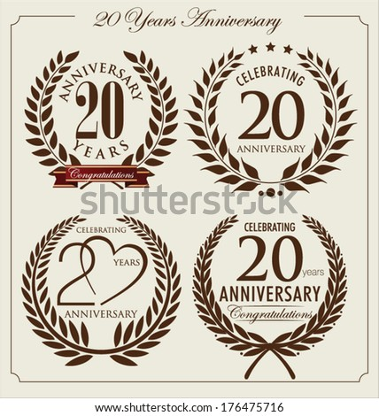 Anniversary laurel wreath, 20 years