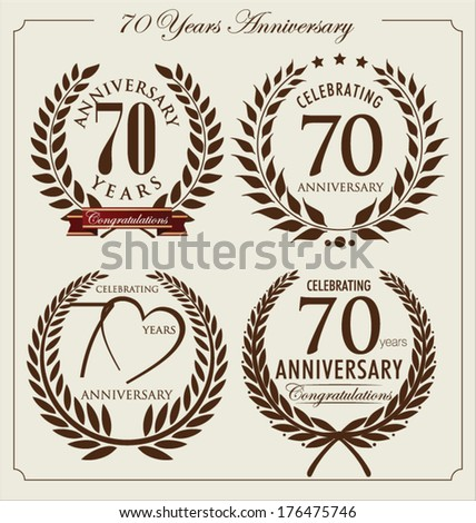 Anniversary laurel wreath, 70 years