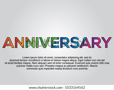 anniversary word creative design concept modern vector illustration concept of word anniversary
