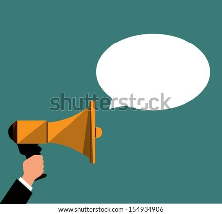 Announcement - stock vector