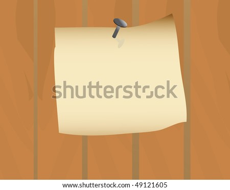 Announcement on the old fence. Vector illustration - stock vector