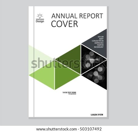 Annual Business Report Cover Template Booklet Stock Photo (Photo ...