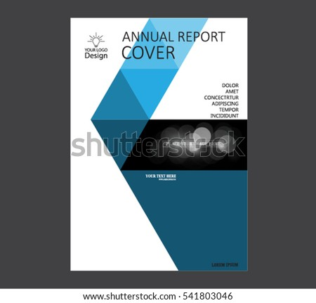annual business report cover template booklet stock vector, Presentation templates