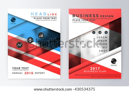 Annual Report Brochure Business Plan Flyer Stock Vector - Business plan design template