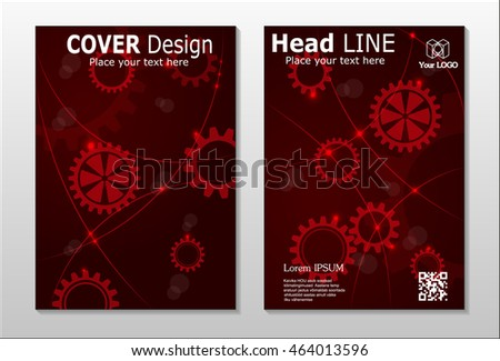 Annual report brochure design template vector, Leaflet cover presentation abstract background