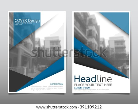Annual report brochure flyer design template vector, Leaflet cover presentation abstract background, layout in A4 size - stock vector
