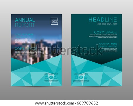 annual report brochure layout design template leaflet advertising poster magazine business financial - Settlement Brochure Template