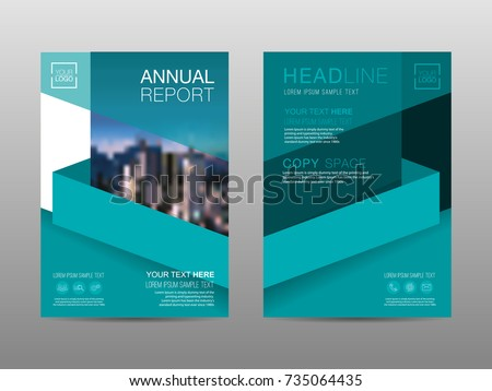 annual report brochure layout design template leaflet advertising poster magazine business financial