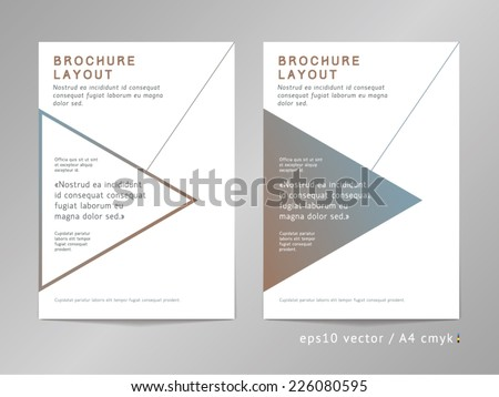 Annual Report Brochure Leaflet Cover Page Stock Vector 226080595