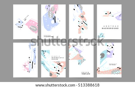 Annual Report Brochure Template Leaflet Cover Stock Vector 513388618