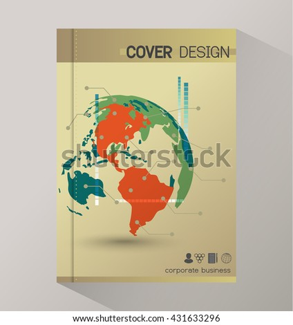 Annual report business statistics template for magazine, brochure, flyer, booklet. - stock vector