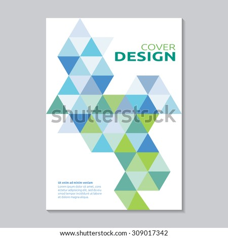 Annual Report Cover Design - stock vector
