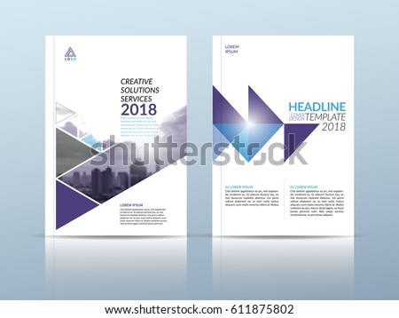 annual report cover flyer presentation brochure stock vector, Presentation Front Page Template, Presentation templates