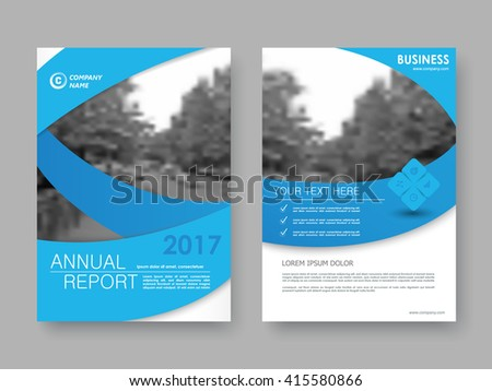 Annual report, flyer, brochure. Front page and back page, book cover layout design.  Design layout template in A4 size . Turquoise and light turquoise version . - stock vector