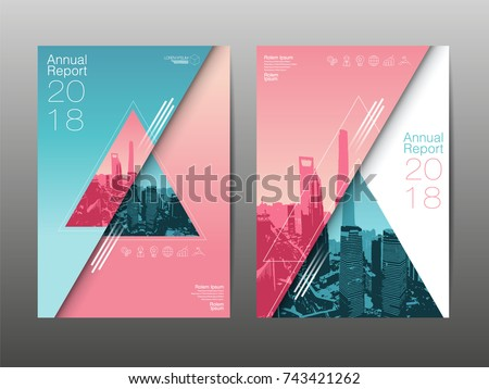 annual report 2018 ,future, business, template layout design, cover book. vector illustration, presentation abstract flat background.