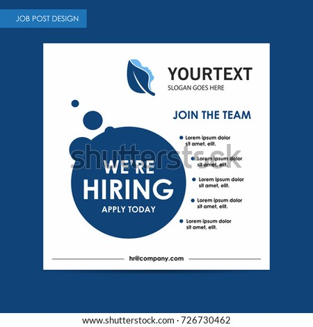 Annual Report Job Post Flyer Template Stock Vector - Hiring ads templates