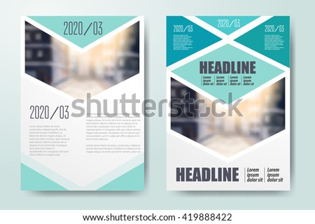 Annual report Leaflet Brochure Flyer template A4 size design, book cover layout design, Abstract  presentation templates - stock vector