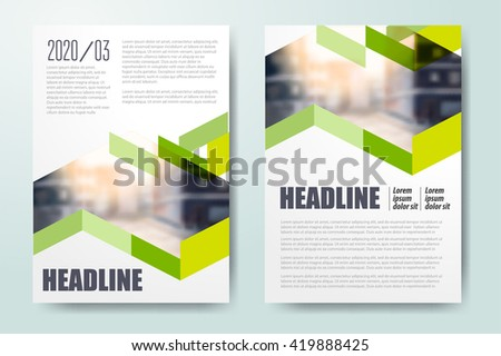 Annual Report Leaflet Brochure Flyer Template Stock Vector - Brochure flyer templates