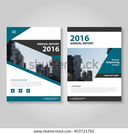Annual Report Leaflet Brochure Flyer Template Design, Book Cover Layout  Design, Abstract Blue Presentation