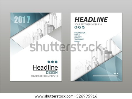 Annual Report Brochure Flyer Design Template Stock Vector