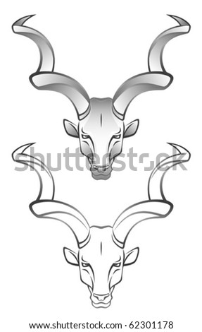 Antelope - stock vector