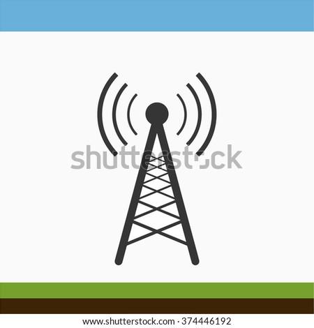 Antenna icon - stock vector