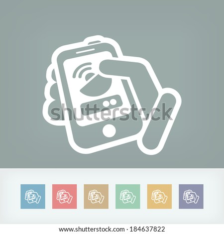 Antenna smartphone or tablet icon - stock vector