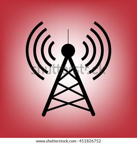 Antenna.Vector icon.Radio tower. - stock vector