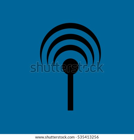 antenna with signal icon .flat disign