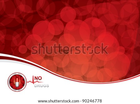 Anti drug medical background.Vector - stock vector