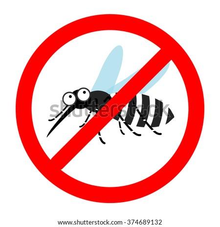 Anti mosquito sign, Mosquito repellent vector, mosquito warning sign, stop mosquito sign , no mosquito. Vector illustration. - stock vector