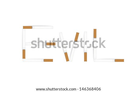 Anti tobacco vector banner isolated on white. - stock vector