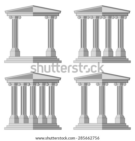 Antique Arch with columns . Flat vector illustration for your design