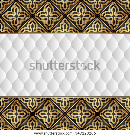 antique background with ornaments - stock vector