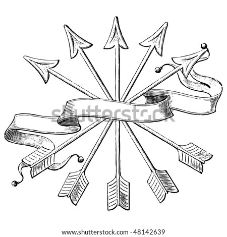 antique banner engraving, scalable and editable vector illustration - stock vector