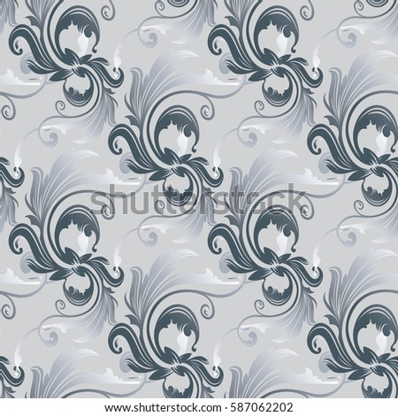 leaf scroll wallpaper vintage patterns - photo #36