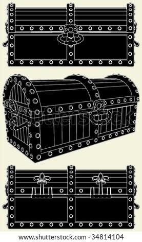 Antique Box Of Treasure Vector 01 - stock vector