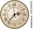 Antique clock. Vector illustration/ - stock photo