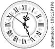 Antique clock. Vector illustration. - stock photo