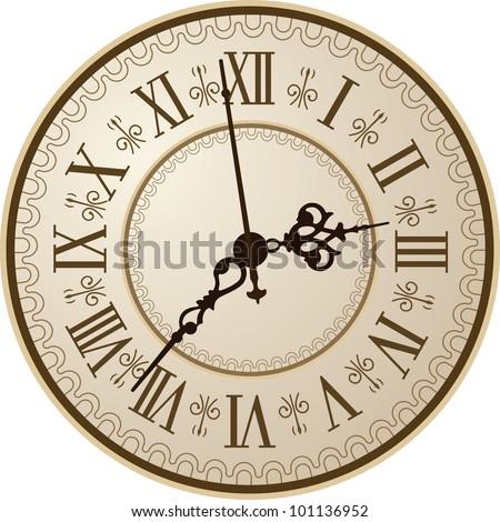 Antique clock. Vector illustration/ - stock vector