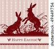antique easter background, scalable and editable vector illustration - stock photo