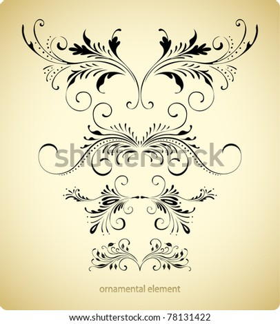 antique floral borders - stock vector