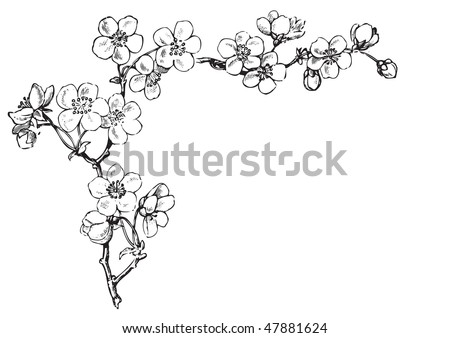 antique floral corner engraving, scalable and editable vector illustration - stock vector