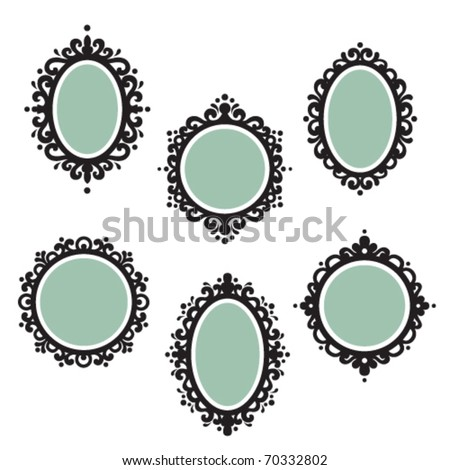 Antique frames - stock vector