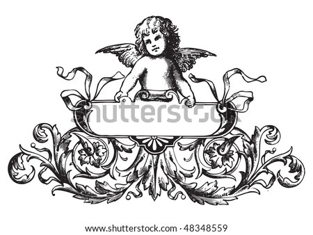 antique label engraving, scalable and editable vector illustration - stock vector