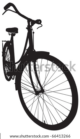 Antique Ladies Bike in Vector format